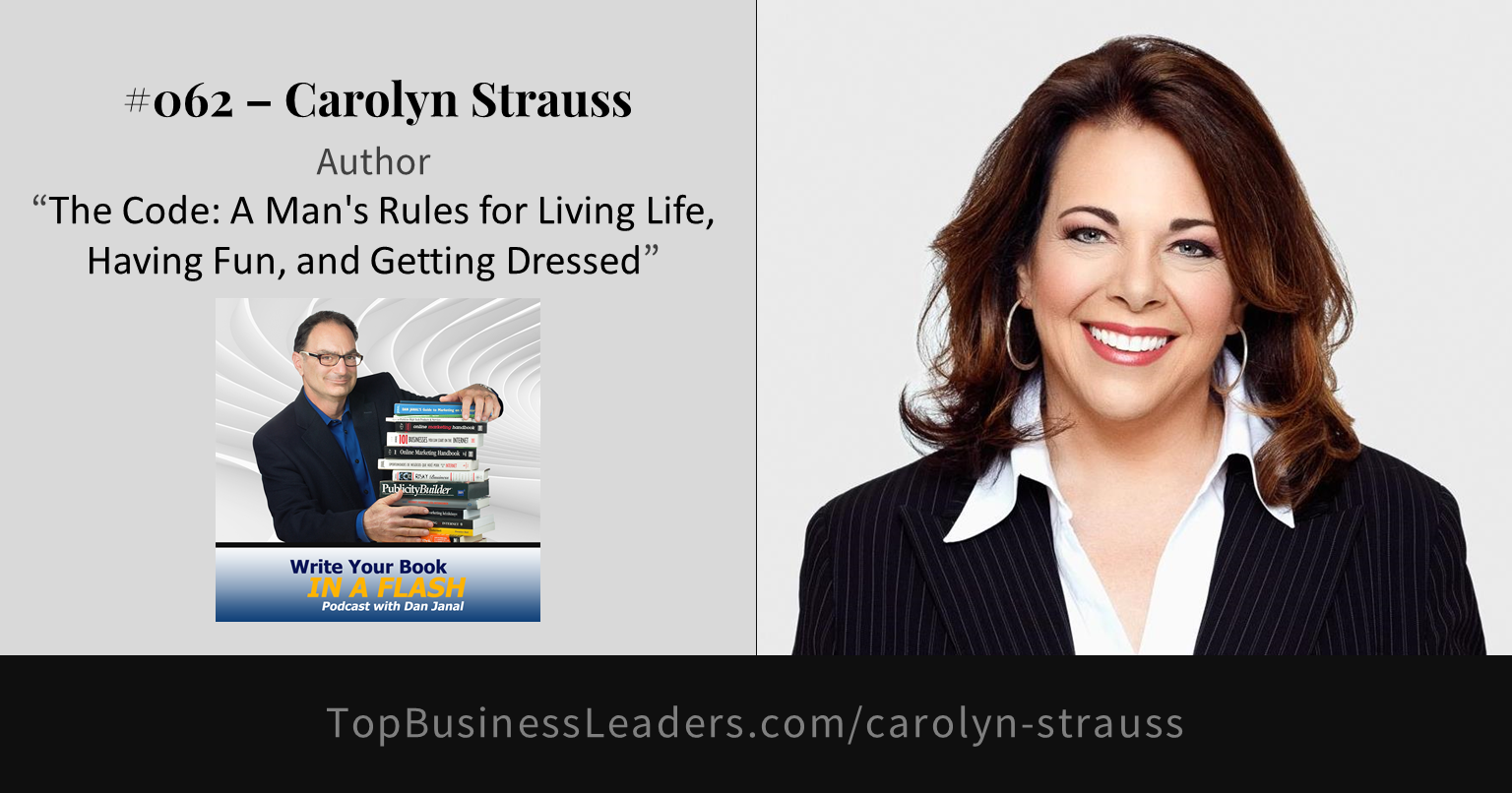 carolyn-strauss-author-the-code-a-mans-rules-for-living-life-having-fun-getting-dressed